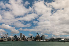 Panorama of Auckland waterfront Royalty Free Stock Photo