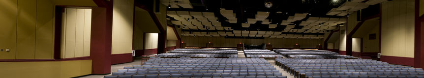 Panorama Auditorium at Performing Arts Center Stock Image