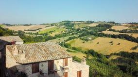 Panorama auf Landschaft von Toskana lizenzfreies stockfoto