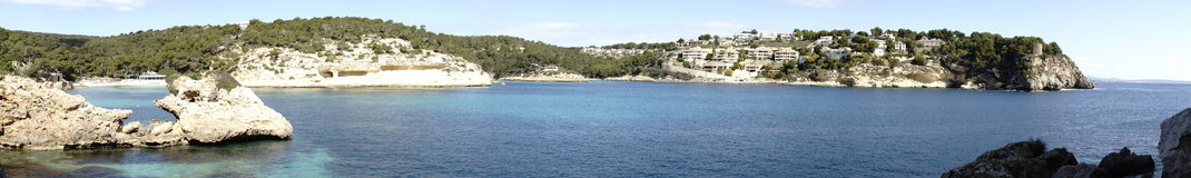 Panorama auf Mallorca stockbild