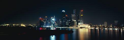 Panorama auf Singapur-Stadt Lizenzfreies Stockbild