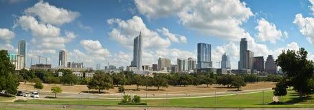 Panorama- Austin Texas horisont Arkivfoto