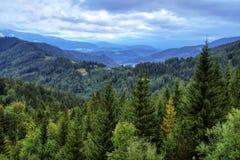 Panorama austríaco de las montañas en Semmering Fotos de archivo libres de regalías