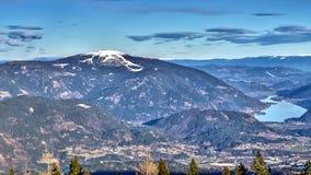 Panorama austríaco de las montañas de las montañas de Villach Alpenstrasse imagen de archivo