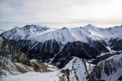 Panorama Austriacki ośrodek narciarski Ischgl Zdjęcie Royalty Free