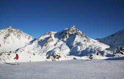 Panorama Austriacki ośrodek narciarski Ischgl Zdjęcia Stock