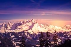 Panorama austriaco delle alpi Fotografia Stock