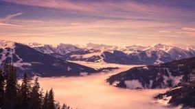 Panorama austriaco delle alpi Fotografia Stock Libera da Diritti