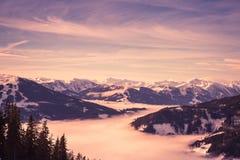 Panorama austriaco delle alpi Immagine Stock Libera da Diritti
