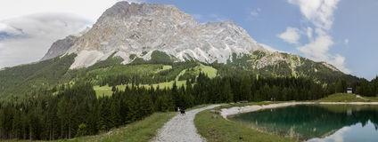 Panorama of the Austrian Alps near Ehrwald Stock Photo