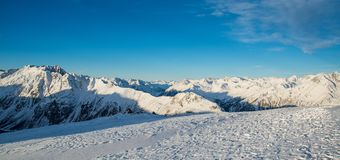 Panorama of the Austrian ski resort Ischgl. In the Alps, Europe Royalty Free Stock Images
