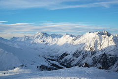 Panorama of the Austrian ski resort of Ischgl. Stock Image