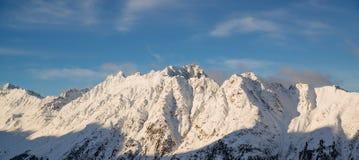 Panorama of the Austrian ski resort Ischgl. In winter. Alps, Europe Stock Photo