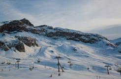 Panorama of the Austrian ski resort Ischgl Stock Photos