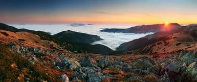 Panorama at autumn. Mountain Low Tatras Stock Photography