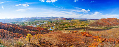 Panorama of autumn Stock Photography