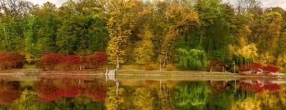 Panorama autumn city park Royalty Free Stock Photography