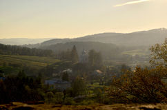 Panorama. Autumn panorama from the hill Royalty Free Stock Image