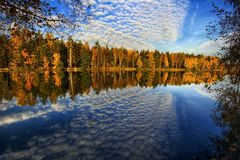 Panorama of Autumn lake Royalty Free Stock Images