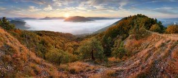 Panorama at autumn from peak Holis - Povazska Bystrica Stock Images