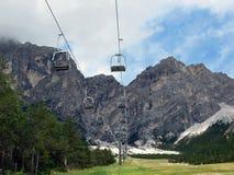 Panorama aux montagnes Image libre de droits