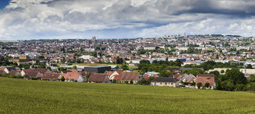 Panorama of Auxerre Royalty Free Stock Photography