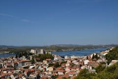 Panorama av Å-ibenikKroatien arkivbild
