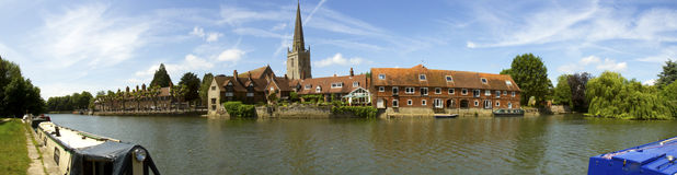 Panorama av Abingdon England Arkivbilder