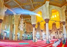 Panorama av Abu al-Abbas al-Mursi Mosque i Alexandria, Egypten Arkivfoton