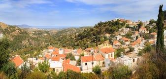 Panorama av Agia Lapa Creete Royaltyfria Bilder