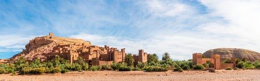 Panorama av Ait Benhaddou, Marocko Arkivbilder