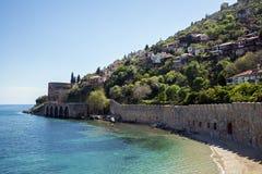 Panorama av Alanya, Turkiet Royaltyfri Foto