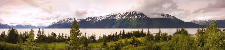 Panorama av alaska Arkivbilder