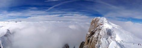 Panorama av alpsna Royaltyfria Foton