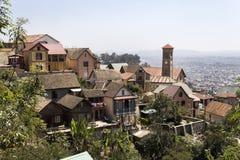 Panorama av Antananariv Arkivbild