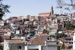 Panorama av Antananarivo Arkivfoto