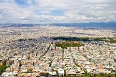 Panorama av Athens Royaltyfria Foton