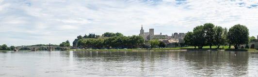 Panorama av Avignon Arkivbilder