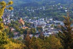 Panorama av Baden-Baden Arkivbild