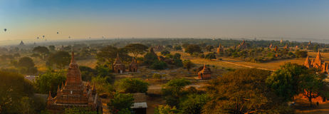 Panorama av Bagan Royaltyfria Bilder