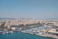 Panorama- av Barcelona Spanien Fotografering för Bildbyråer