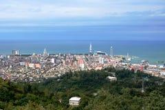 Panorama av Batumi Arkivfoto