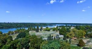 Panorama av Belgrade Arkivfoto