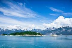 Panorama av berg i Alaska, Förenta staterna Arkivbilder