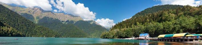 Panorama av berg och dalen Arkivfoton