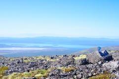 Panorama av berg och sjöar av Kola Peninsula Arkivfoto