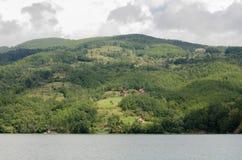 Panorama av bergbyn Arkivbilder