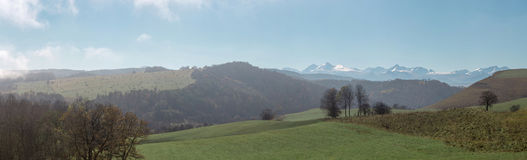 Panorama av bergen Royaltyfria Bilder