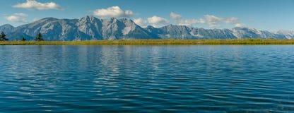 Panorama av bergen av Mutteralmen Royaltyfri Foto