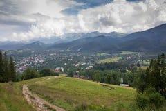 Panorama av berget Arkivbild